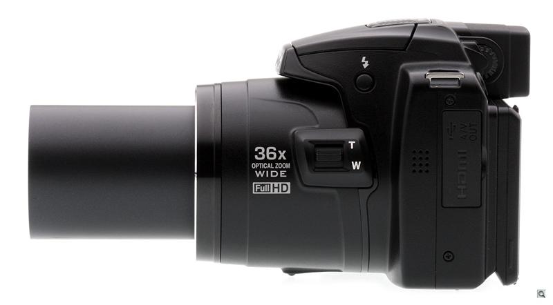 Nikon Coolpix P500. Вид сбоку.