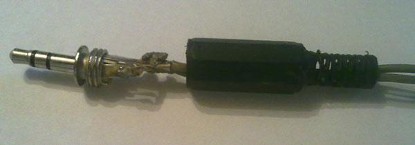 Штекер звукового кабеля
