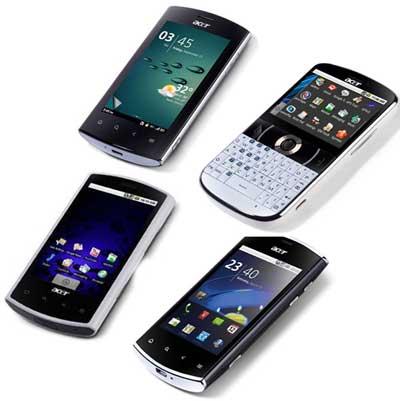 Android смартфоны Acer: Liquid E S100, Liquid MT S120, Liquid Mini E310, beTouch E130