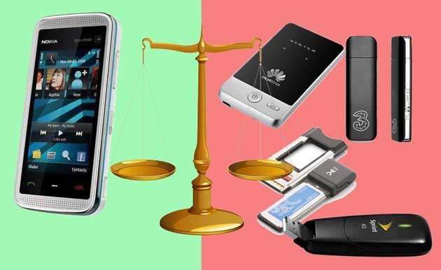 Мобильный телефон или 3G модем