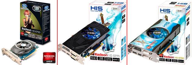Видеокарты Radeon 6700: HD 6750, HD 6770, HD 6790