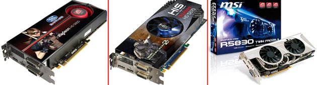 Видеокарты Radeon HD 5850, HD 5870 и HD 5830