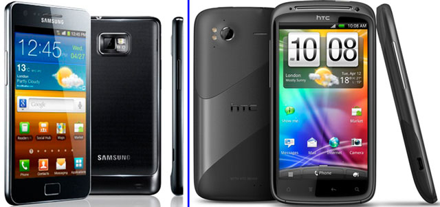 «Galaxy S 2» и «HTC Sensation»