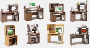 Несколько моделей компьютерных столов