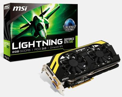 Комплект видеокарты FeForce GTX 680-N680GTX Lightning