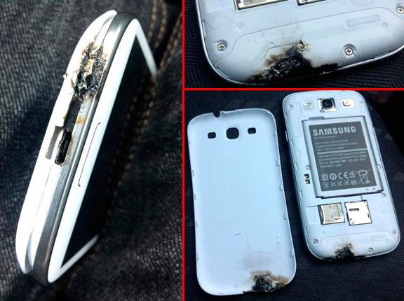 Взорвавшийся смартфон Galaxy S III