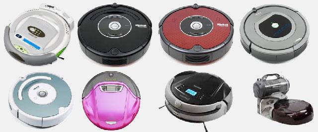 Различные модели роботов-пылесосов от разных производителей
