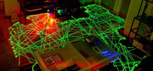 Траектория передвижений робота-пылесоса при уборке помещения