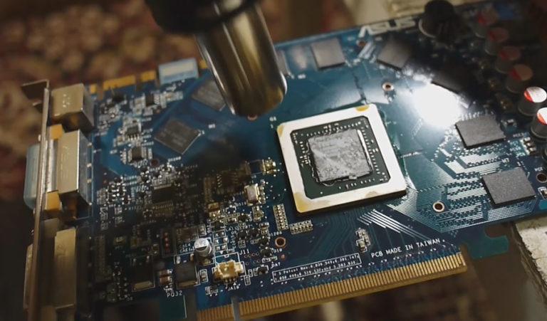Артефакты видеокарты - убираем пропайкой графического процессора