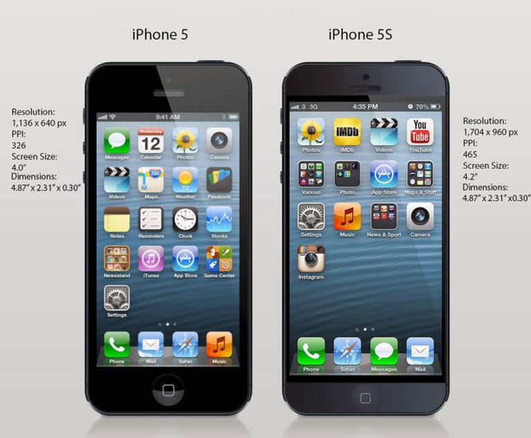 Смартфоны Iphone 5 и Iphone 5S