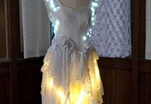 Светящееся свадебное платье