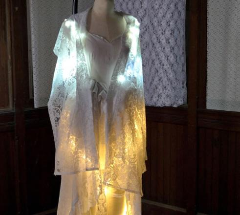 Светодиодное свадебное платье