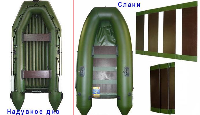 ПВХ лодки с надувным и складным дном