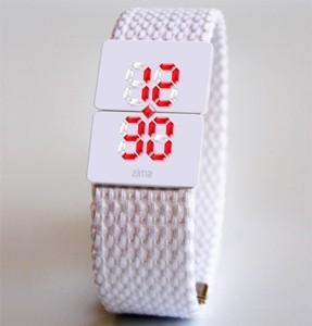 LED-часы необычные из натурального хрусталя