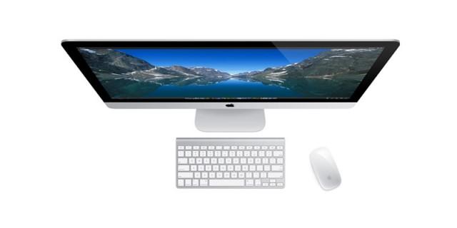 Моноблок Apple iMac ME089C132GH6V1RU/A (вид сверху)