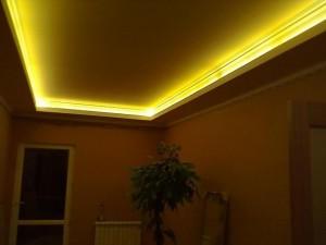 Подсветка натяжного потолка