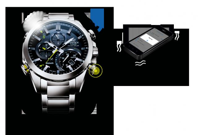 Casio EQB-500 поиск смартфона