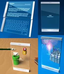 """Прозрачный 3D телефон -  """"Thru""""  концепт"""