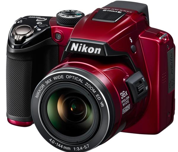 Nikon Coolpix P500 в красном цвете
