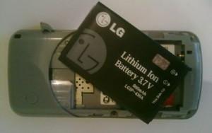 Разряженный аккумулятор мобильного телефона