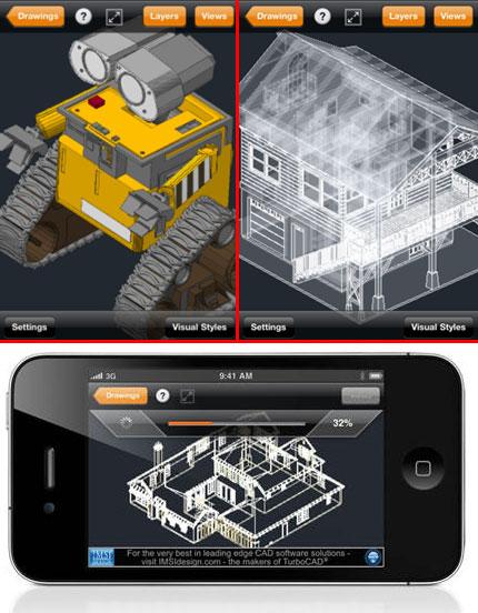 Скриншоты чертежей в TurboViewer Pro на iPhone