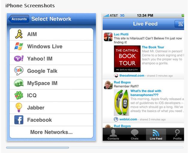 Мессенджер Meebo для iPhone