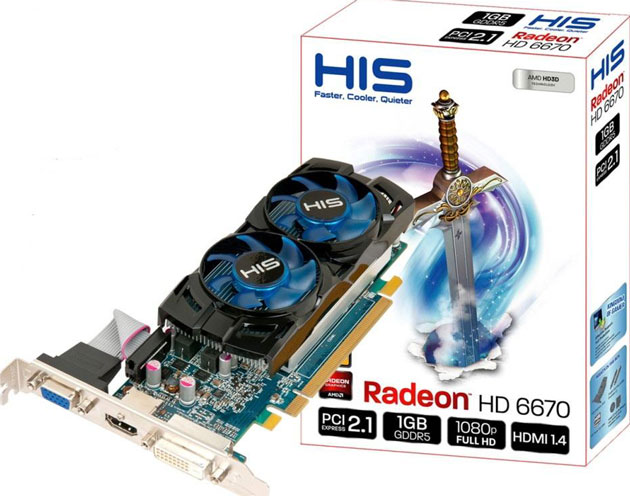 Видеокарта Radeon 6670
