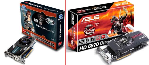 Видеокарты серии Radeon HD 6800: HD 6850, HD 6870