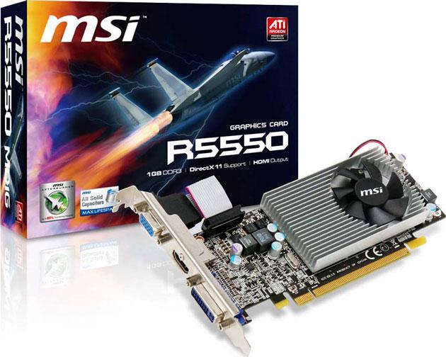 Видеокарта ATI Radeon 5550