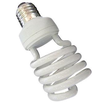 Современная энергосберегающая лампа