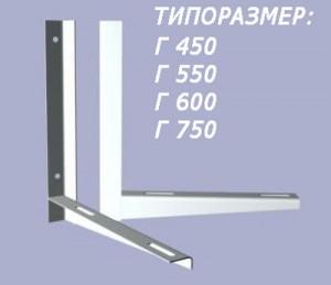 Крепёжные планки (кронштейны) для наружного блока кондиционера (сплит-системы)