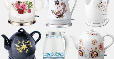 Электрические чайники из керамики и фарфора