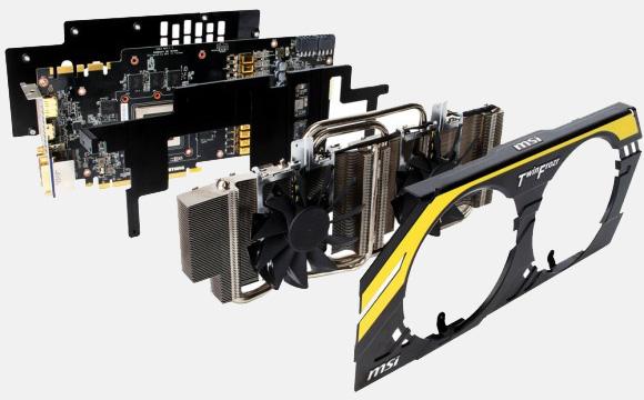 Компоновка элементов видеоадаптера  N680GTX Lightning