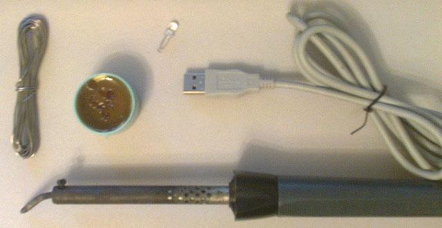 Инструменты и комплектующие для изготовления настольной лампы с питанием от USB