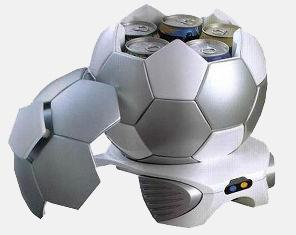 Мини холодильник в форме футбольного мяча