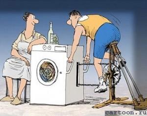 Отжим в современной стиральной машине автоматического типа