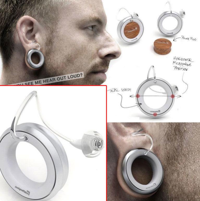 Пирсинг для глугих со встроенным слуховым аппаратом