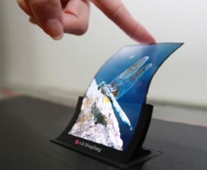 Прототип 5-дюймового гибкого экрана LG