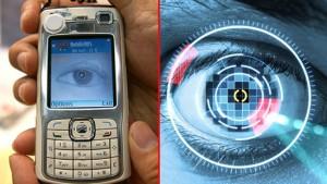 Функция сканирования сетчатки для смартфона
