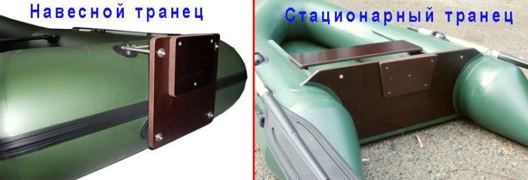 Надувные ПВХ лодки с навесным и стационарным транцем