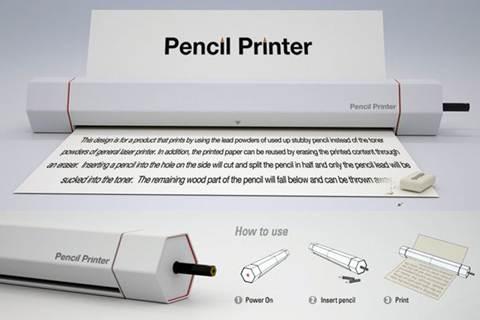 Принтер, печатающий графитом от обычных карандашей