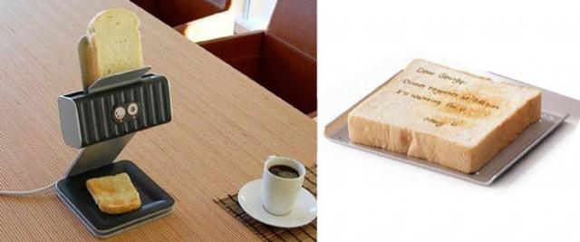 Принтер, печатающий на ломтиках хлеба