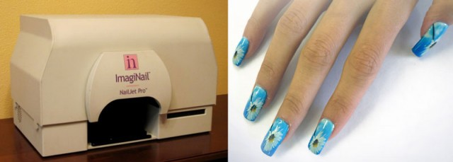Принтер, печатающий на ногтях