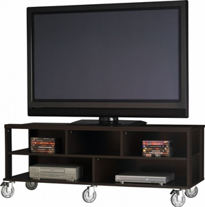 Тумба под телевизор на колёсиках