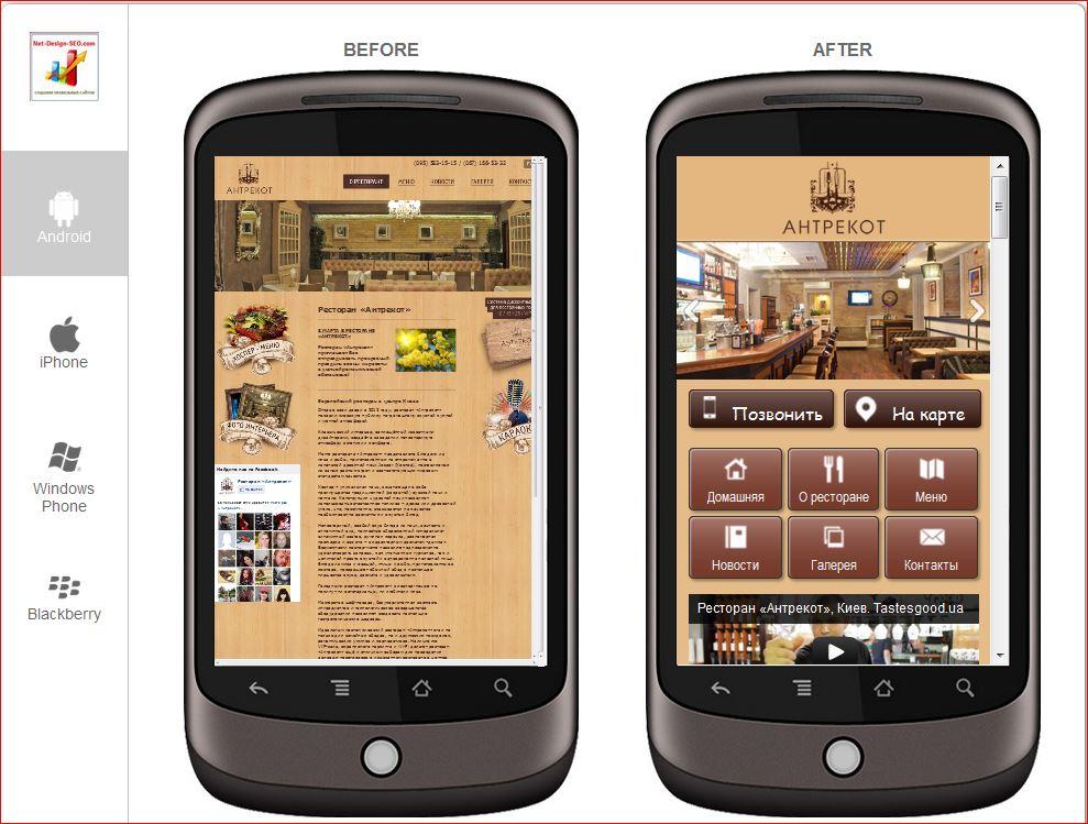 Мобильная версия сайта картинка