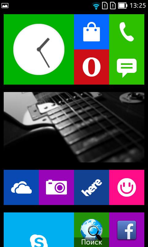 Nokia X2 интерфейс