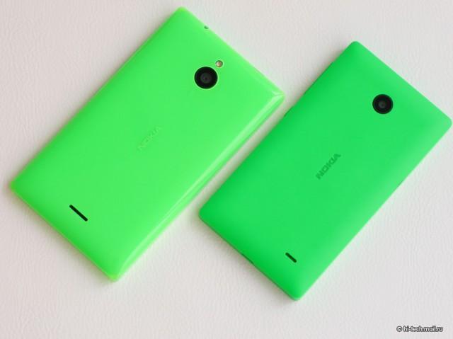 Nokia X2  тыльная сторона