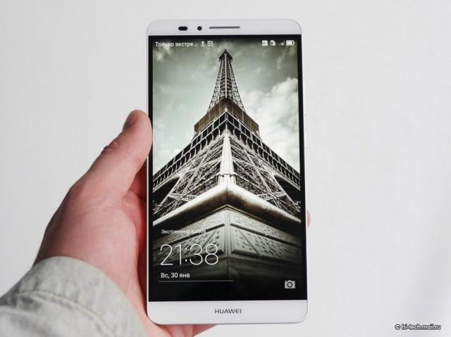 Huawei Ascend Mate 7 в руках