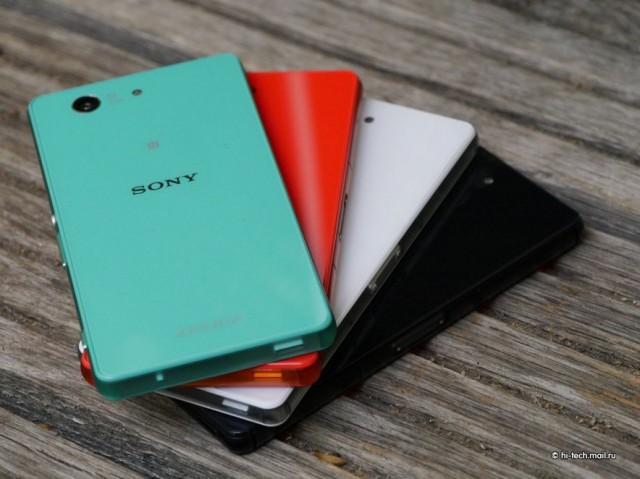 Sony Xperia Z3 Compact тыльная сторона