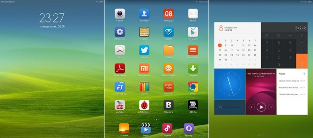Xiaomi MiPad интерфейс